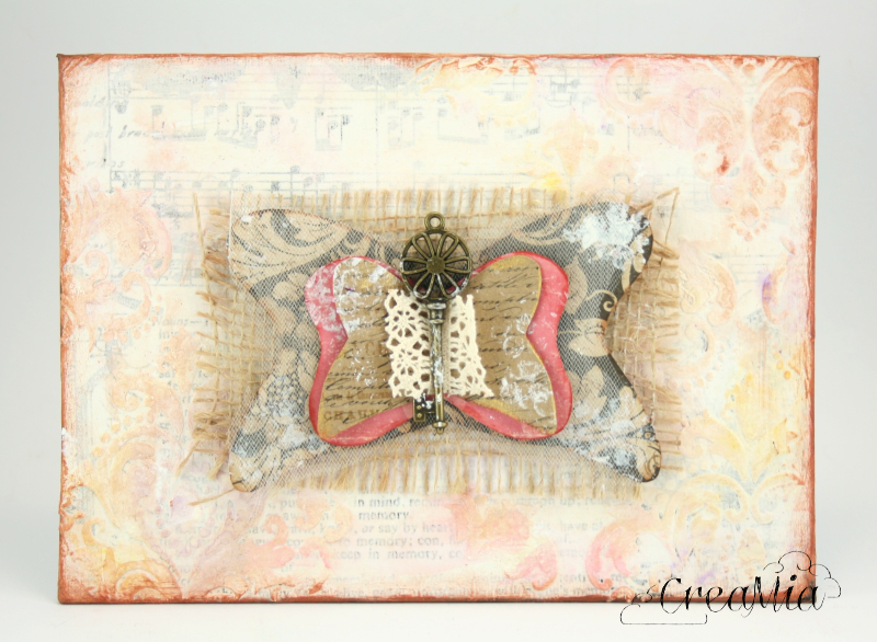 mixed media motyl 07
