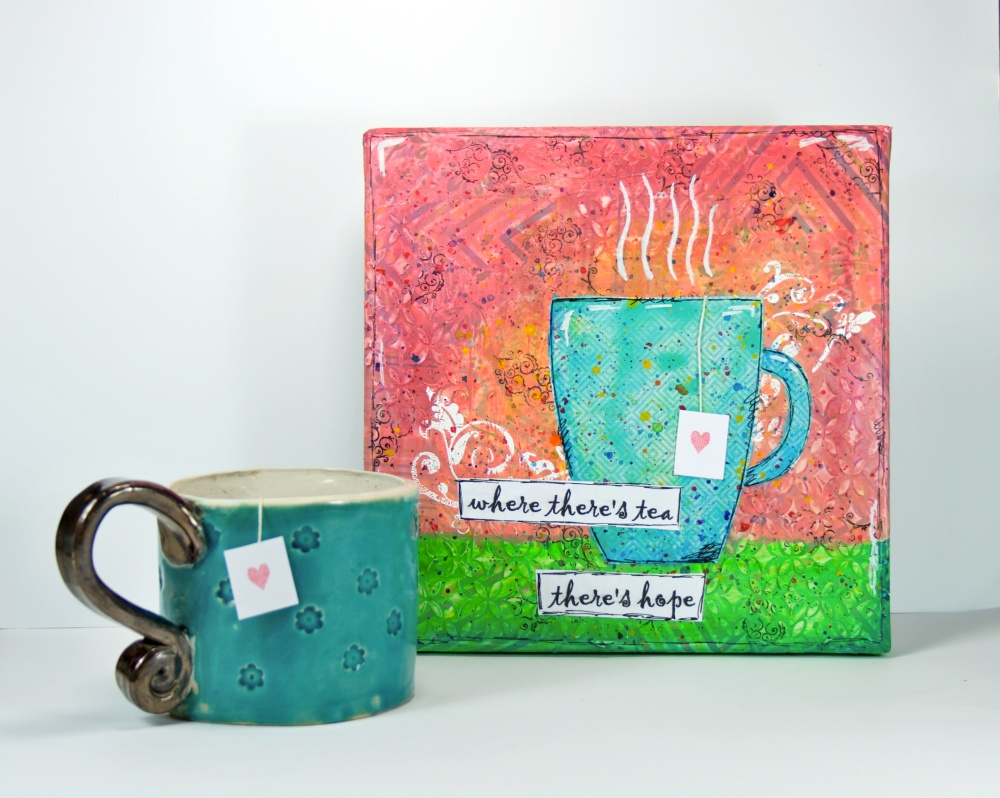 tea hope mixed media canvas 08