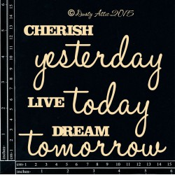 "Citát ""Cherish yesterday"" /..."